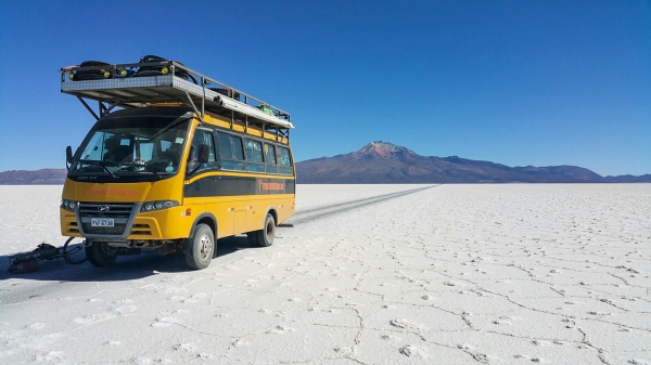 The dinner truck makes its salt flat debut