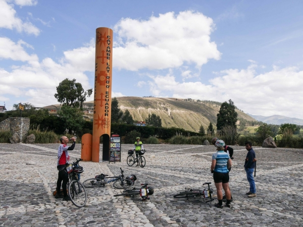 South American Epic riders at the equator