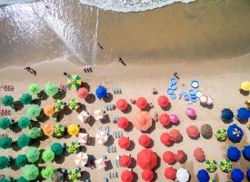 brazilian beach umbrellas
