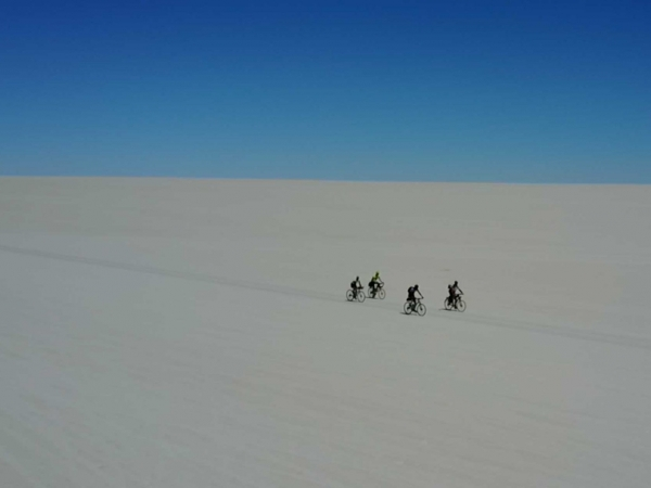 Salt as far as the eye can see in Bolivia