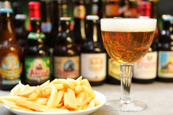 Belgian beer and fries