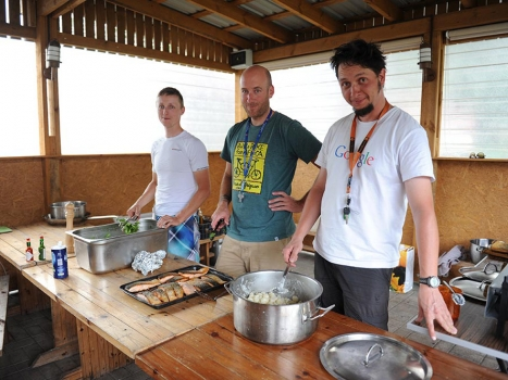 Cooking on Bicycle Expeditions