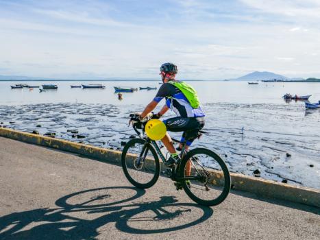 Pura Vida on a bicycle