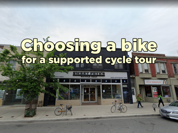 Choosing a bike for a supported cycle tour