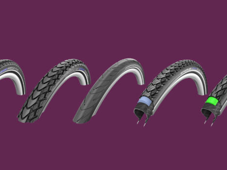 The best tires for cycle touring: Schwalbe Marathon